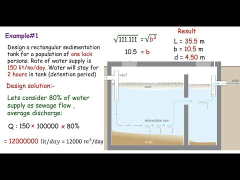 Rectangular sedimentation tank design  - YouTube