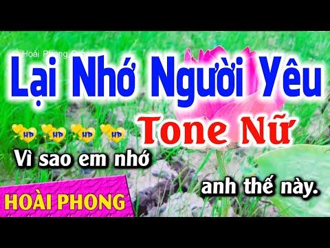 Karaoke Lại Nhớ Người Yêu Tone Nữ Nhạc Sống Mới | Hoài Phong Organ