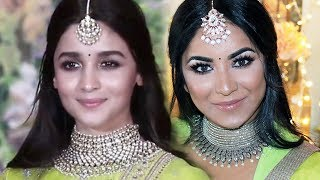 Alia Bhatt inspired Makeup and Hairstyle | Sonam Kapoor Wedding Reception