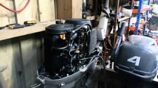 Honda BF50 outboard demo run