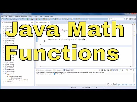 Java Tutorial - 13 - Absolute Value Of Numbers