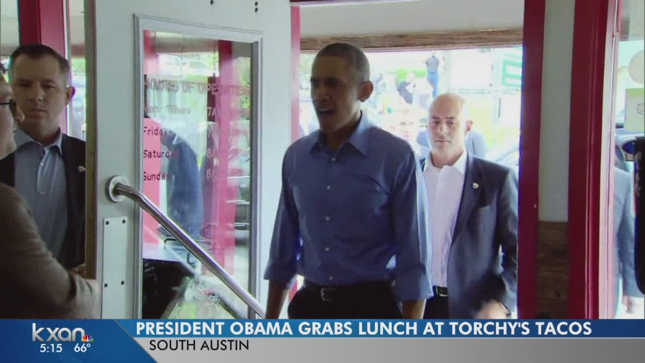 President Obama visits Torchy's Tacos on South Congress