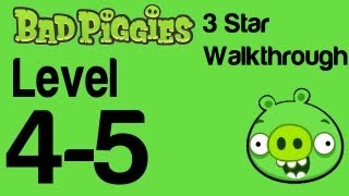 Bad Piggies - Level 4-5 3 Star Walkthrough Flight in the Night | WikiGameGuides