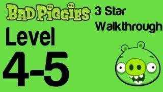 Bad Piggies - Level 4-5 3 Star Walkthrough Flight in the Night | WikiGameGuides