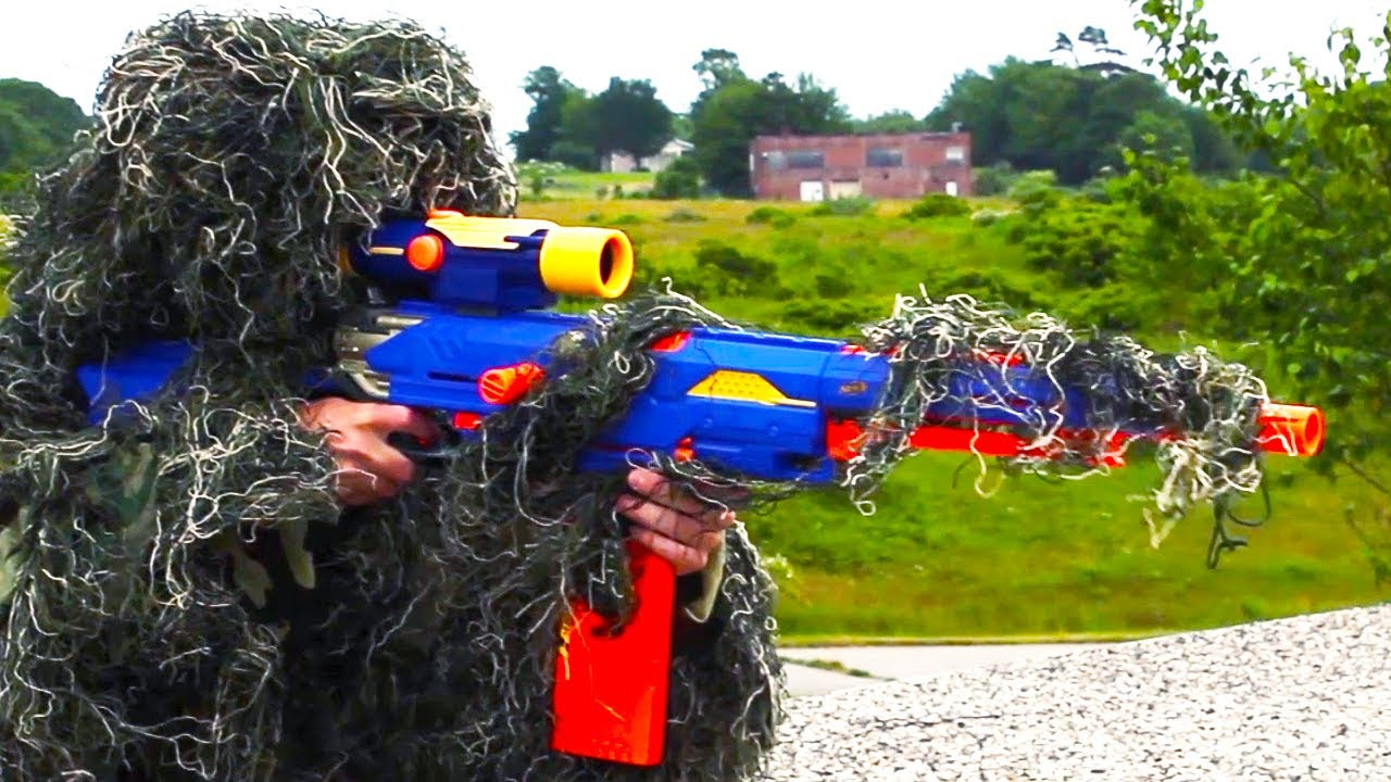 Nerf Squad 16: The Sniper - YouTube