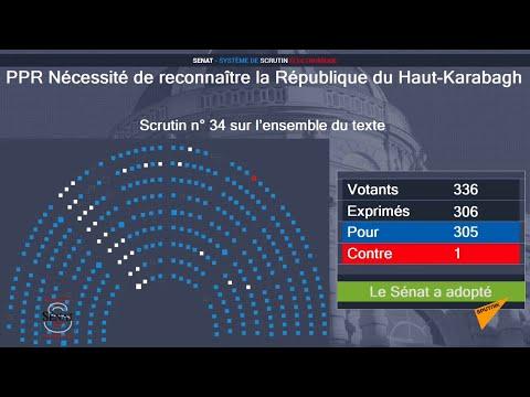 Сенат Франции принял резолюцию с призывом к правительству страны признать Нагорный Карабах