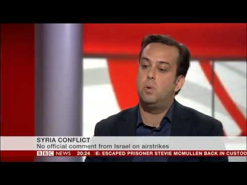 Barak Seener Interview on BBCNews Channel How Syria Crisis Impacts Upon Israel May 2013