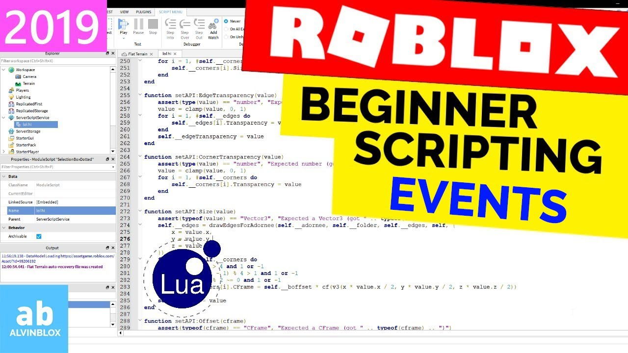 Events Beginner Roblox Scripting 10 Long Edition Youtube