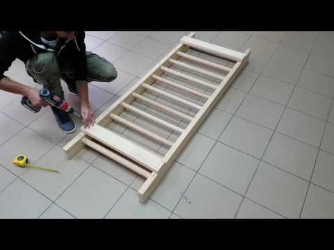 Montage mit Holzleisten (Bretter)