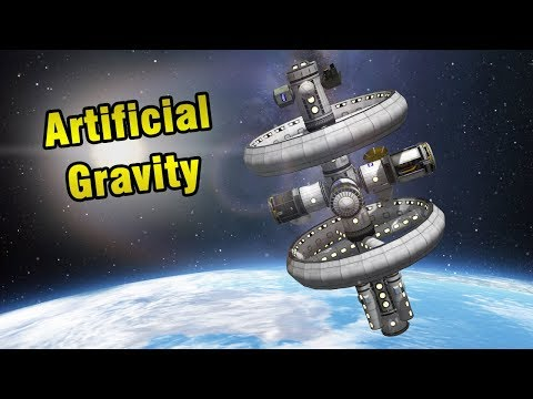 KSP: Single Launch ARTIFICIAL GRAVITY STATION (stock)