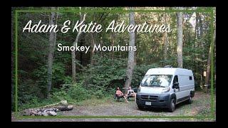 VAN LIFE IN THE SMOKEY MOUNTAINS   Free Camping in Virginia   Adam & Katie Adventures