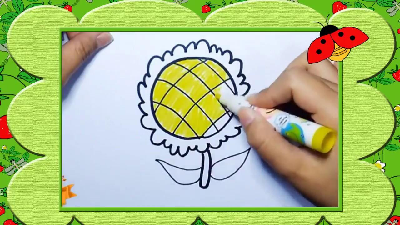 Bé tập vẽ bông hoa   Bao quát những tài liệu liên quan đến hình vẽ bông hoa đẹp chi tiết nhất