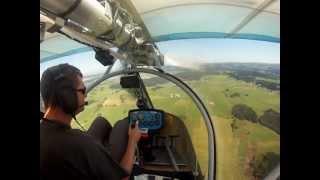 Landeanflug mit Ikarus C22 in Fournet-Blancheroche