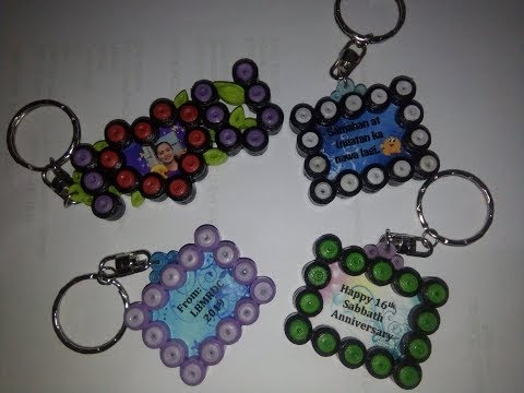 DIY KEYCHAIN WITH MESSAGE - MADE OF PAPER