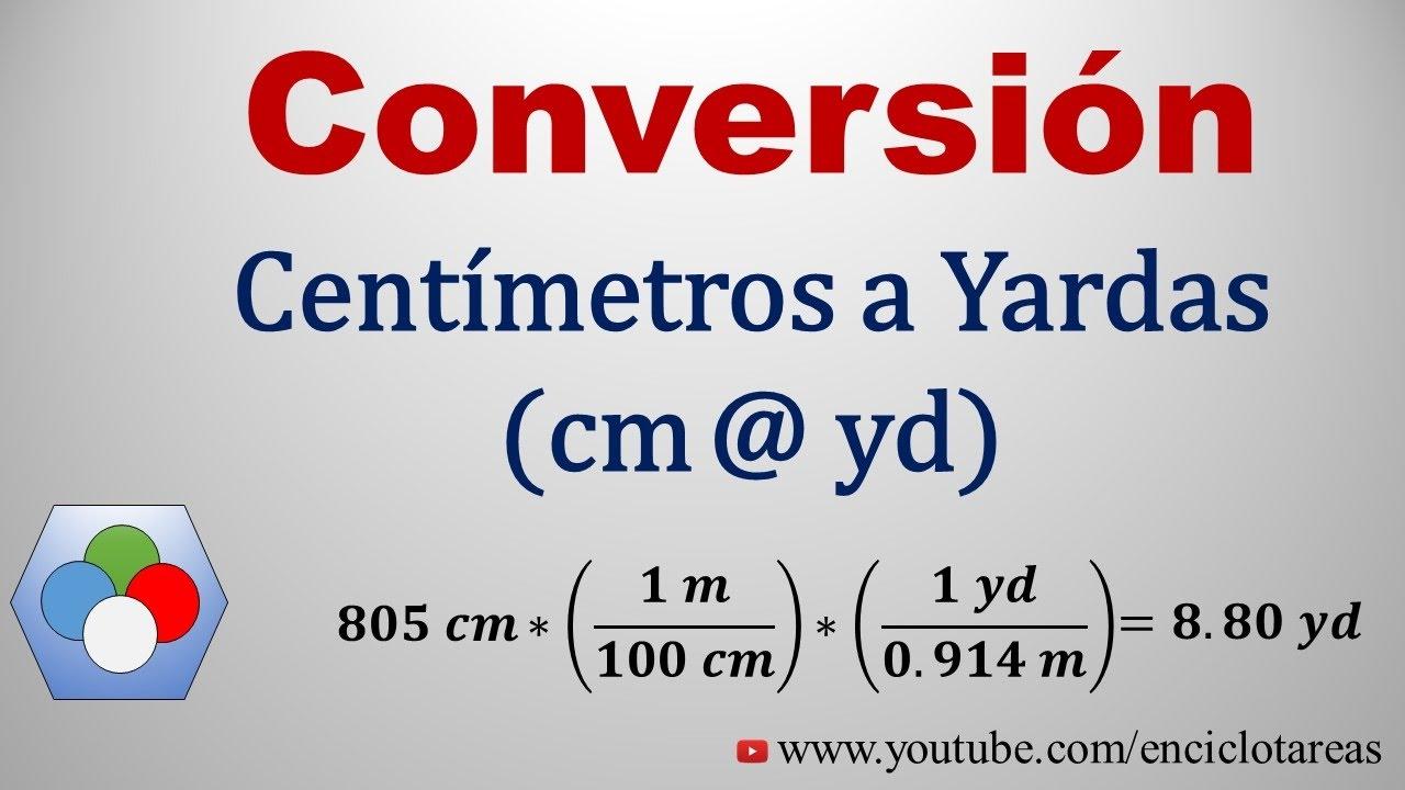 Convertir de Centímetros a Yardas (cm a yd) - YouTube