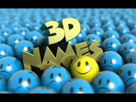 3D Names Video