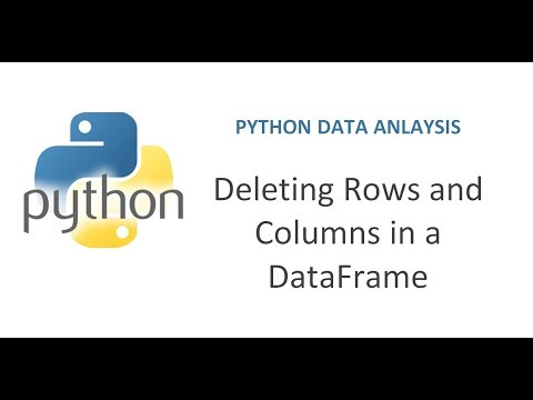 Python Pandas Tutorial 5 | How to delete Rows and Columns
