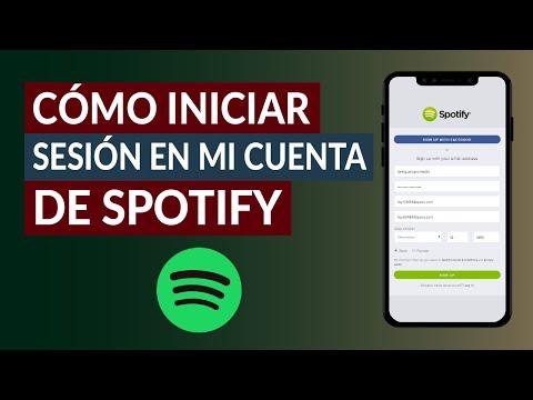 Cómo Entrar o Iniciar Sesión en mi Cuenta de Spotify con o sin Facebook