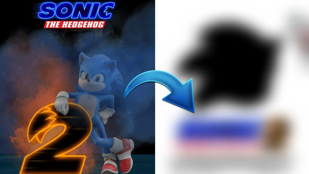 Making A Sonic Movie 2 Poster Again Sonic The Hedeghog Movie Youtube