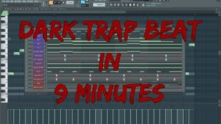How to Make a HARD DARK TRAP Beat - TUTORIAL [FL STUDIO 12]