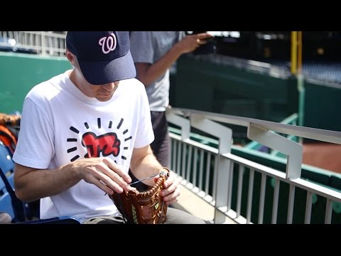 """Using the """"glove trick"""" at Nationals Park"""