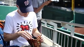 "Using the ""glove trick"" at Nationals Park"
