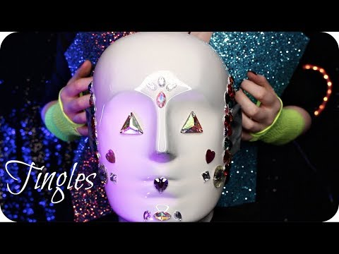 ASMR Satisfying Silicone Head Peeling 💎 Tapping, Scratching, Ear Cleaning, Konjac Sponges, Gems +