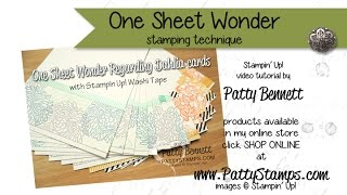 Create One Sheet Wonder Cards with Stampin' UP! stamps : PattyStamps video tutorial(http://PattyStamps.com - Learn how to create One Sheet Wonder Note Cards using Stampin' Up! stamps and ink featuring the Regarding Dahlias stamp set!, 2015-05-02T23:07:40.000Z)