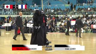 17th World Kendo Championships Women's TEAM MATCH 2ch Japan vs France