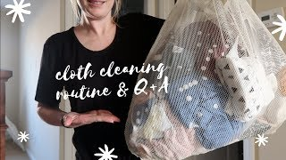 CLOTH DIAPER CLEANING ROUTINE | Q&A