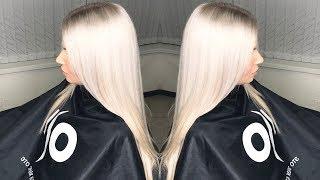 Секреты чистого платинового блонда. Чистка базы исправление домашнего окрашивания из желтого в блонд