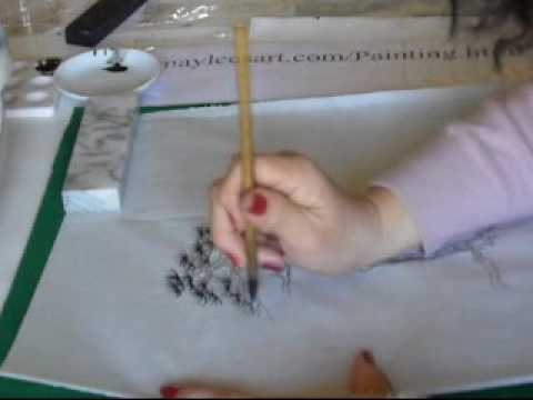 Chinese Landscape Painting Demo-Trees-Pine