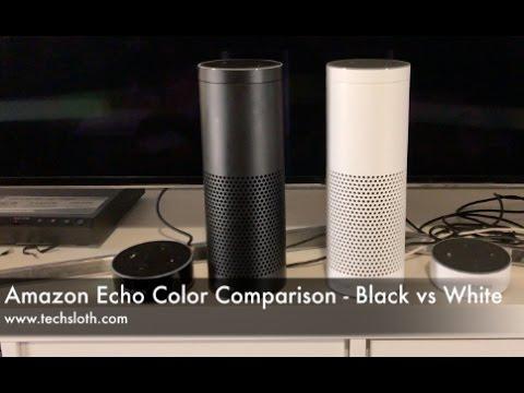 amazon echo color comparison black vs white youtube. Black Bedroom Furniture Sets. Home Design Ideas