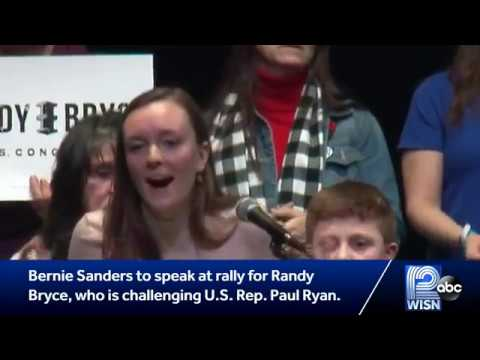 "Racine: Bernie Sanders, Randy ""Ironstache"" Bryce rally the working-class. Repeal & Replace Paul Ryan"