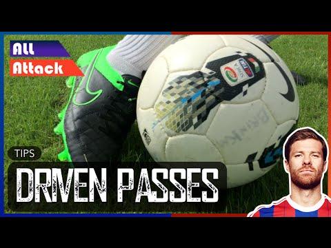 Long Pass Technique Football, Driven Passes   Tips