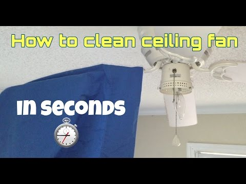 How to Clean Your Ceiling Fan: IN SECONDS!