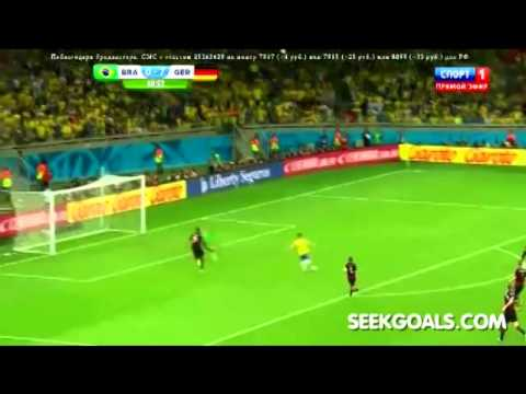 Brazil vs Germany - Oscar Goal