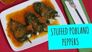 Stuffed Poblano Peppers (Chiles Rellenos recipe)