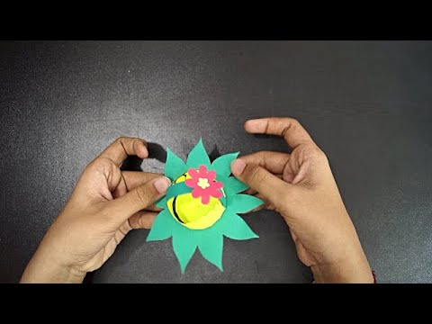 How To Make A Flower Basket With Paper || Easy Flower Basket Making With Paper