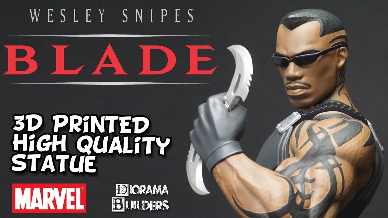 Blade Daywalker Wesley Snipes 3D Print Marvel Studios High Quality Action Figure Diorama Builders
