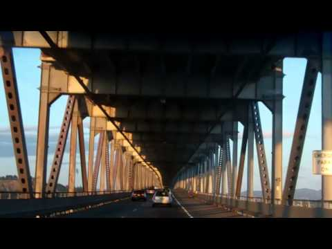 San Quentin and San Rafael bridge with San Francisco in the