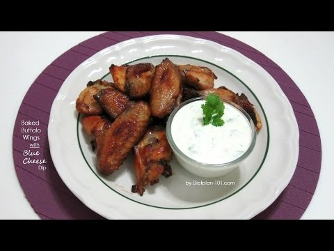 Baked Buffalo Wings with Blue Cheese Dip | Dietplan-101.com