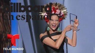 "Natalia Jiménez gana el premio ""Hot Latin Songs"" | Billboard 2015 | Entretenimiento"