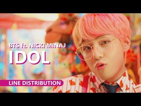 BTS 방탄소년단 Feat. NICKI MINAJ - IDOL | Line Distribution