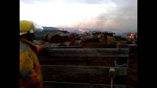 John Deere Tractors Fighing Fire