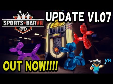 Sports Bar Hangout VR - Update V1.07 - Patch Notes / Out Now!!!!