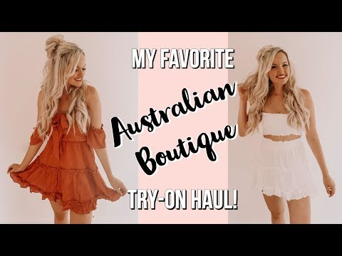 MY FAVORITE AUSTRALIAN BOUTIQUE - Try-on Haul!!!