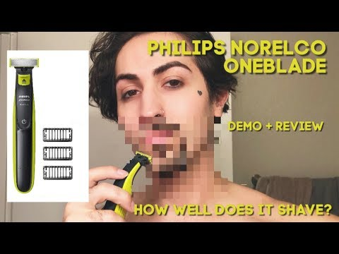 Philips Norelco OneBlade demo + review | Mens Grooming | Glass Caedmon