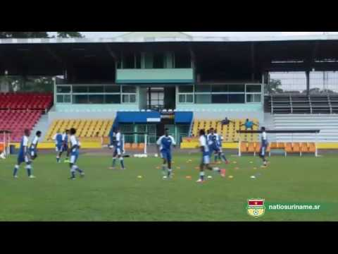 Laatste training Suriname Play-off Concacaf Gold Cup 2017