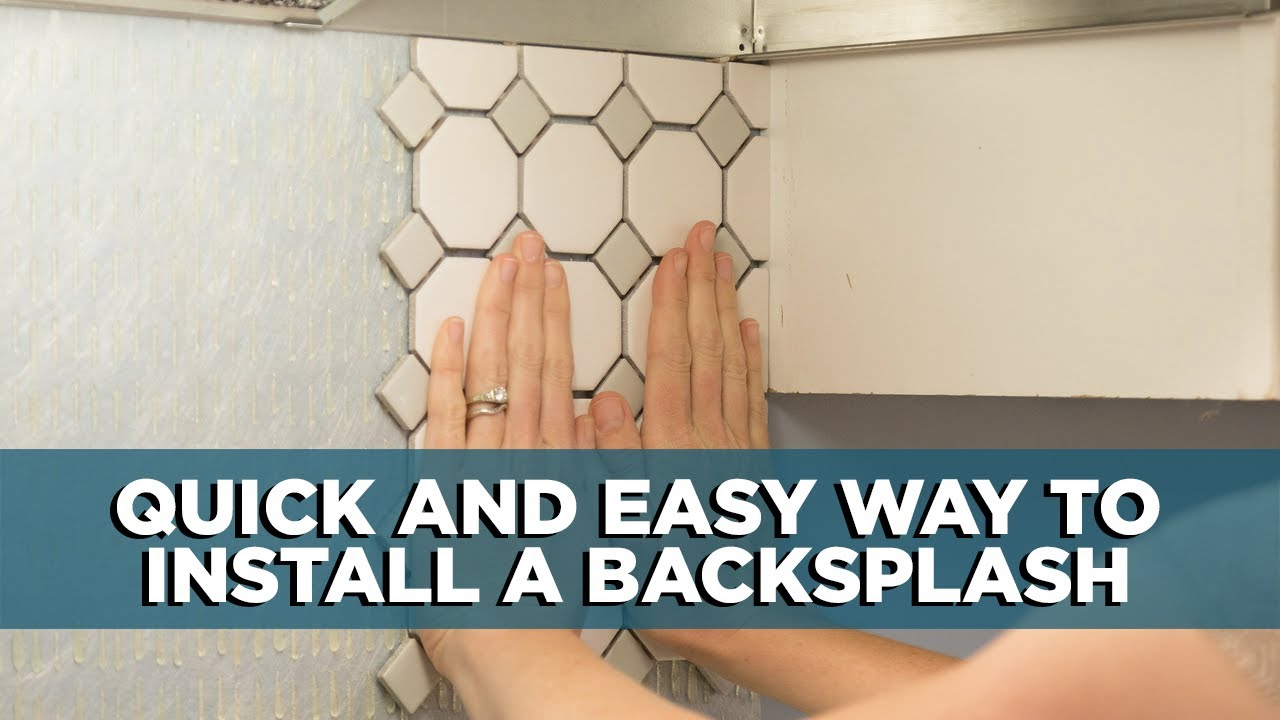 how to install a kitchen backsplash in minutes youtube